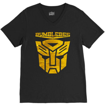 Golden Bumblebee Transformer V-neck Tee Designed By Feelgood Tees