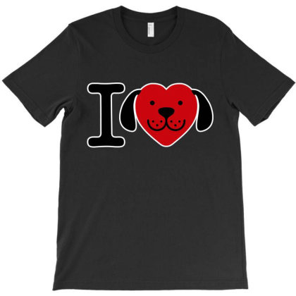 I Love Dogs T-shirt Designed By Feelgood Tees