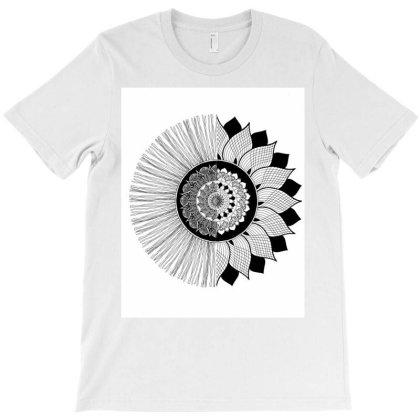 Mandala Flower T-shirt Designed By Go Trendy