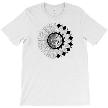 Flower Mandala T-shirt Designed By Go Trendy