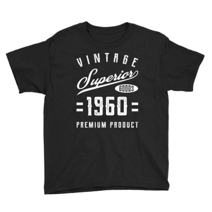 60th Birthday Gifts Vintage Premium 1960 Youth Tee Designed By Diogo Calheiros