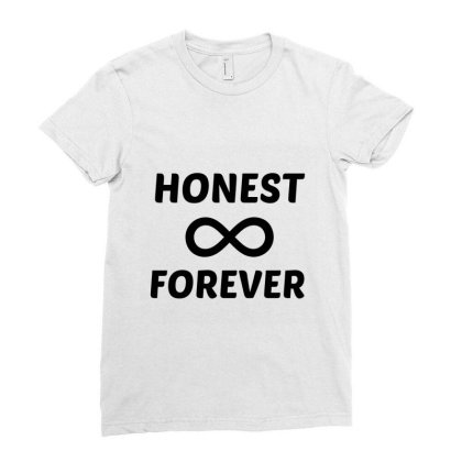 Honest Forever Ladies Fitted T-shirt Designed By Perfect Designers