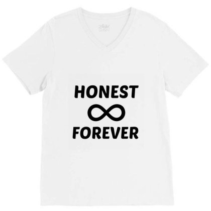 Honest Forever V-neck Tee Designed By Perfect Designers