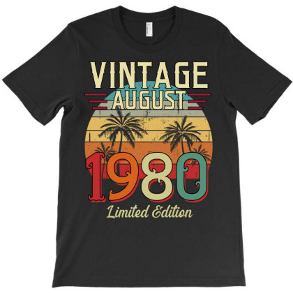 Vintage August 1980 Limited Edition T-shirt Designed By Badaudesign