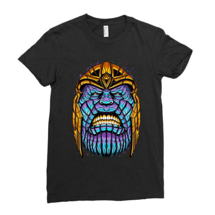 The Mad Titan Ladies Fitted T-shirt Designed By Glitchygorilla