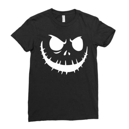 Jack Skellington Halloween Nightmare Short Sleeve Unisex Funny T Shirt Ladies Fitted T-shirt Designed By G3ry