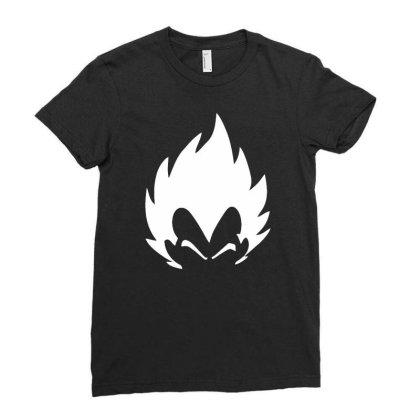 Japanese Dragon Ball Z Anime Dbz Super Saiyan Funny T Shirt Vegeta Fac Ladies Fitted T-shirt Designed By G3ry