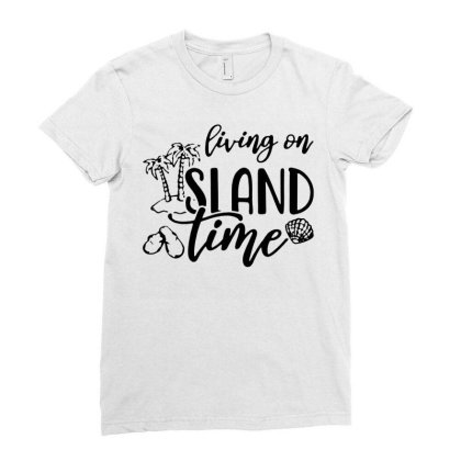 Living On Island Time T Shirt Funny Cotton Tee Vintage Gift For Men Wo Ladies Fitted T-shirt Designed By G3ry
