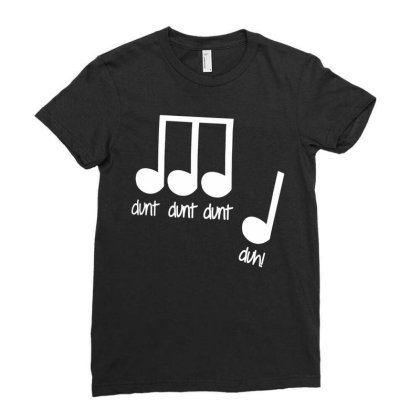 Men's Dunt Dunt Dunt Duh Funny Music Note T Shirt Ladies Fitted T-shirt Designed By G3ry