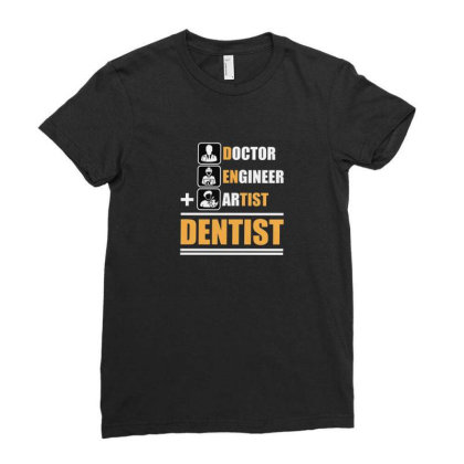 Dentist Ladies Fitted T-shirt Designed By Disgus_thing