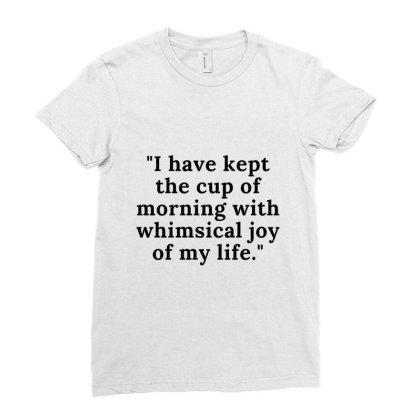 Good Morning Ladies Fitted T-shirt Designed By Guru-fashion