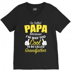 papa-cool V-Neck Tee | Artistshot