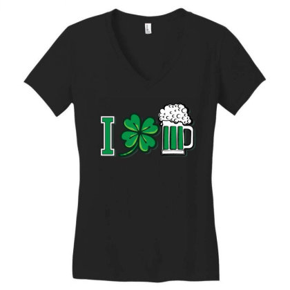 I Love Beer   Funny Patricks Day T Shirt Women's V-neck T-shirt Designed By Gnuh79