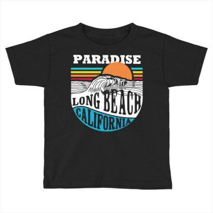 Paradise Beach Toddler T-shirt Designed By Designtees