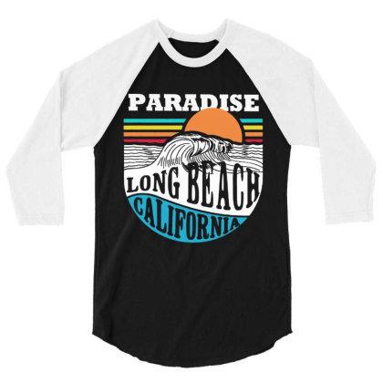 Paradise Beach 3/4 Sleeve Shirt Designed By Designtees