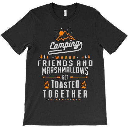 Camping Friends T-shirt Designed By Designtees