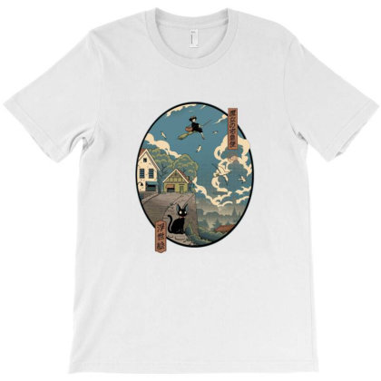 Ukiyo E Delivery T-shirt Designed By Cuser4021