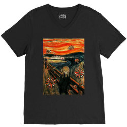scream V-Neck Tee | Artistshot