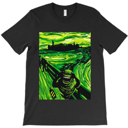 Slimers Scream T-shirt Designed By Feelgood Tees