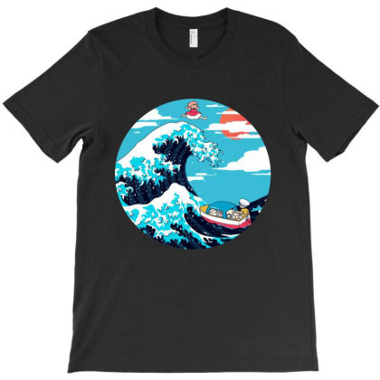 The Great Wave Of Ponyo T-shirt Designed By Feelgood Tees