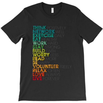 Think Positively T-shirt Designed By Feelgood Tees