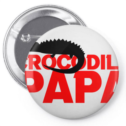 Crocodile Papa Pin-back Button Designed By Cloudystars