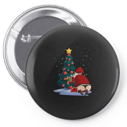 Santa's Butt Pin-back Button Designed By Designtees