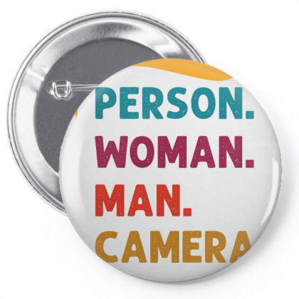 Person Woman Man Camera Tv Pin-back Button Designed By Cloudystars