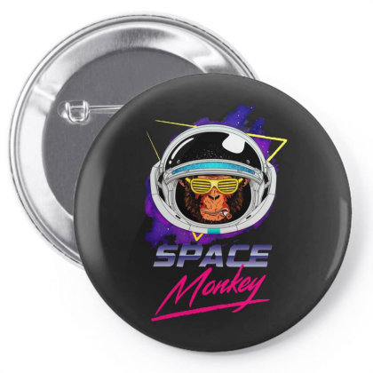 Retro Space Monkey Pin-back Button Designed By Gomarket Tees