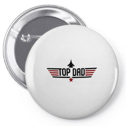 Top Dad Pin-back Button Designed By Designtees