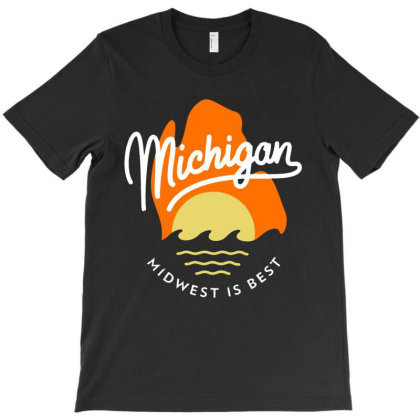 Great Mitten State   Michigan T-shirt Designed By Designtees
