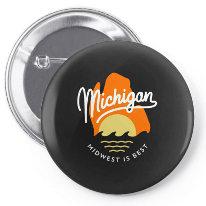 Great Mitten State   Michigan Pin-back Button Designed By Designtees
