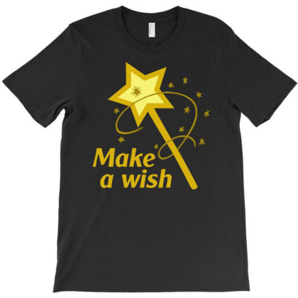 Make A Wish Magic Witch Funny T-shirt Designed By Rusmashirt