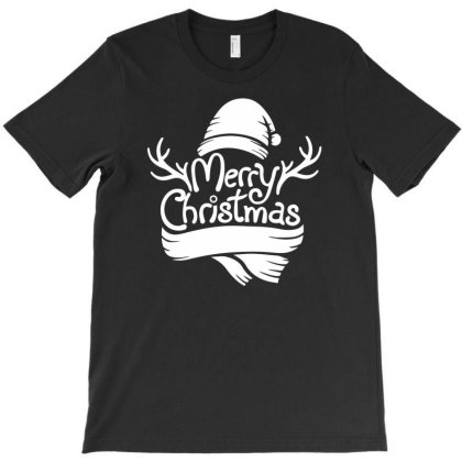 Merry Christmas Reindeer Antlers Funny T-shirt Designed By Rusmashirt