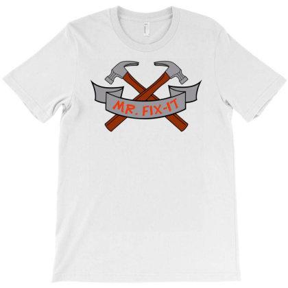 Mr Fix It Funny Hammer Funny T-shirt Designed By Rusmashirt