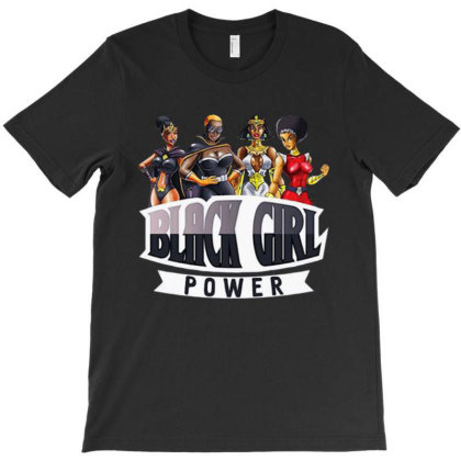 Super Hero Black Girl Power T-shirt Designed By Designtees