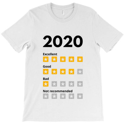 2020 Year Rate T-shirt Designed By Designisfun