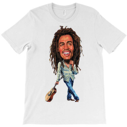 Bob Marley Caricature Reggae T-shirt Designed By Marley Tees