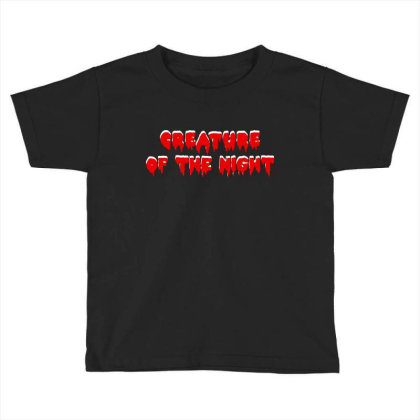 Creature Of The Night Album Toddler T-shirt Designed By Gomarket Tees
