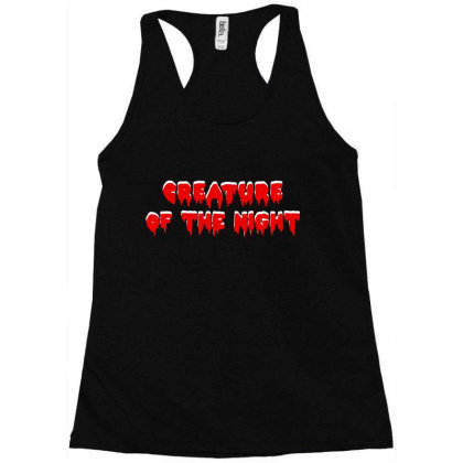 Creature Of The Night Album Racerback Tank Designed By Gomarket Tees