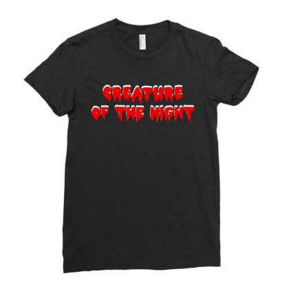 Creature Of The Night Album Ladies Fitted T-shirt Designed By Gomarket Tees