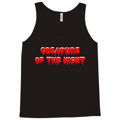 Creature Of The Night Album Tank Top Designed By Gomarket Tees