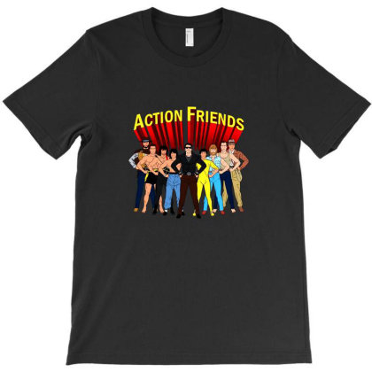 Action Friends T-shirt Designed By Cuser4035