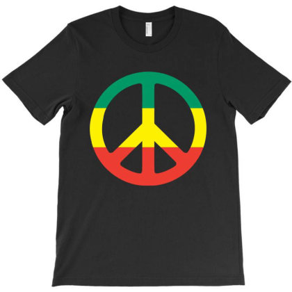 Rastafari Peace Symbols Reggae T-shirt Designed By Marley Tees