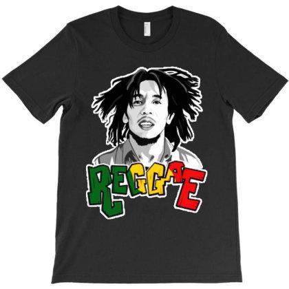 Illustration Bob Marley Reggae T-shirt Designed By Marley Tees