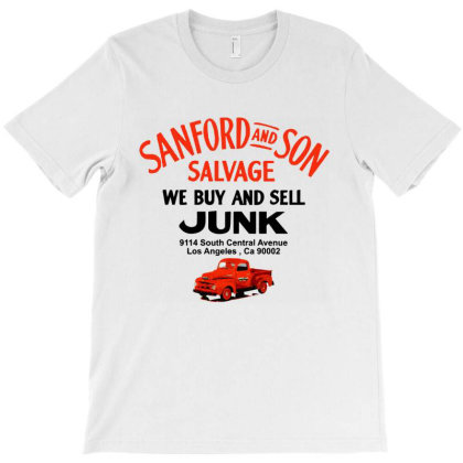 Sanford & Son Salvage Sign T-shirt Designed By Cooldesignz