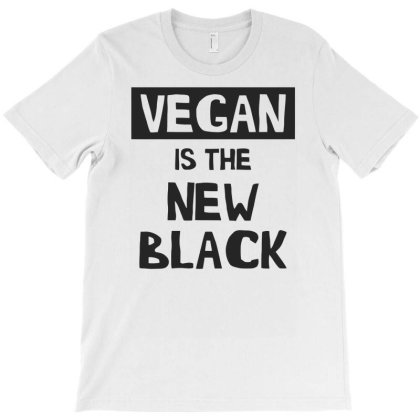 Vegan Is The New Black Funny T-shirt Designed By Rusmashirt