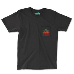 Only Best Uncles Get Promoted To Godfather Retro Vintage Pocket T-shirt Designed By Vip.pro123