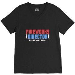 fireworks directo 4th of july gift V-Neck Tee | Artistshot