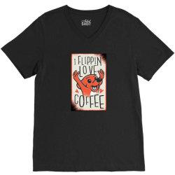 i flippin love coffee V-Neck Tee | Artistshot